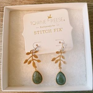 NWT Town & Reese Ruthie Leaf Drop Earring